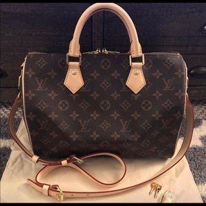 Louis Vuitton speedy bandouliere 30 satchel